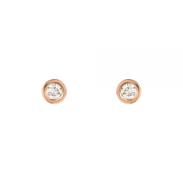Round Studs (Rose Gold)